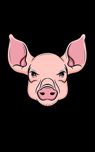 Skizzenbuch: Schwein Schweine Kopf Illustration - 100 Seiten Zeichenbuch für Skizzen mit 100 gerahmten Seiten - Zeichenheft für Unterwegs - Taschenbuch Format - Kleine Größe - 12.7cm x 20.3cm