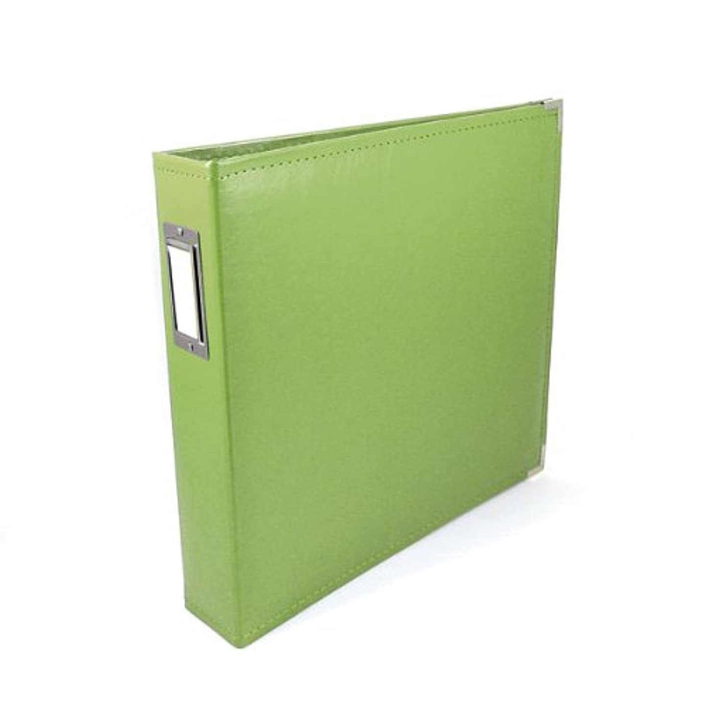 12 x 12-inch Classic Leather 3-Ring Album by We R Memory Keepers | Kiwi, includes 5 page protectors
