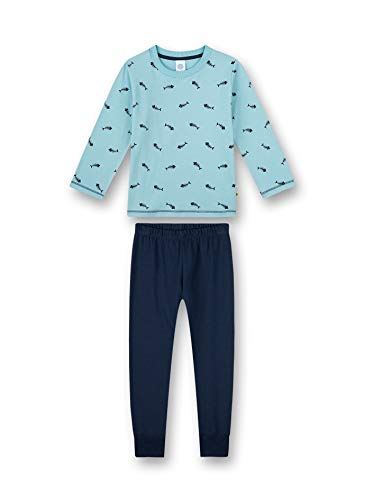 Sanetta Jungen lang blau Baby- und Kleinkind-Schlafanzüge, Lagune, 116