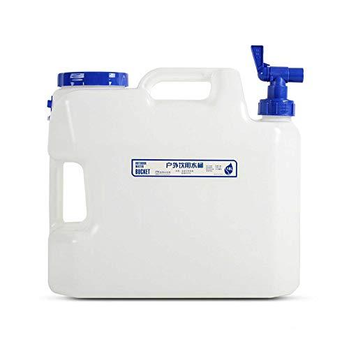 Gnohnay 18L Recipiente Almacenamiento Agua para Acampar, Senderismo, Cubo Agua con Grifo y Asa, Jarra Agua Plástico Sin BPA para Exteriores, Acampar, Viajes
