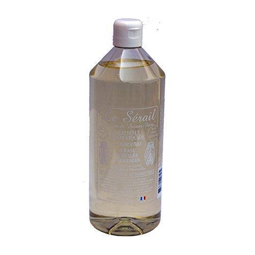 Sapone di Marsiglia liquido olio vegetale Natura 1l vera Sapone Liquido Di Marsiglia a base di olio vegetale servirà per le cure del bucato o dei e cuoio per pelli normali a miste.