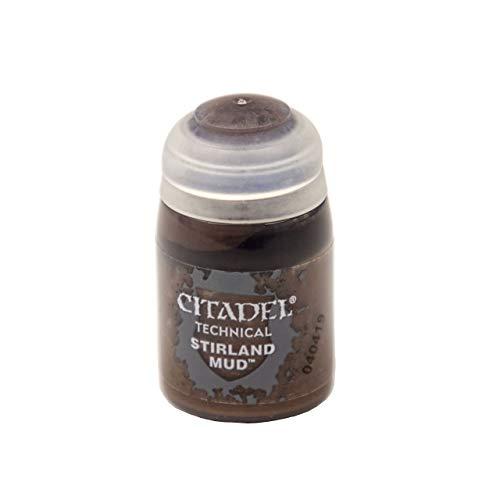 Games Workshop Texture Stirland Mud Acrylfarbe, Cazuela, Stirland Mud, Metall, Kunststoff, 24 ml