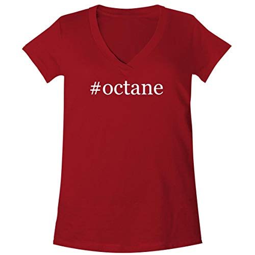 #Octane - A Soft & Comfortable Women's V-Neck T-Shirt, Red, XX-Large