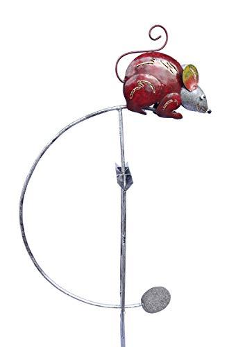 SK Style Gartenwind-Spinner-Skulptur - Maus