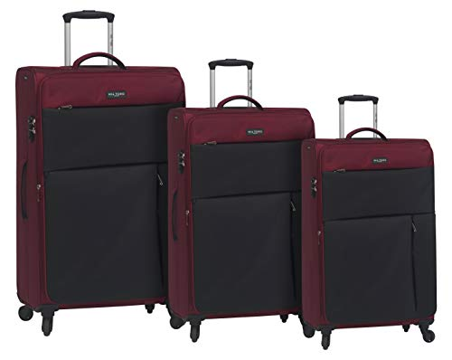 New Mia Toro Italy Gardena Softside Spinner Luggage 3 Piece Set, Red, One Size