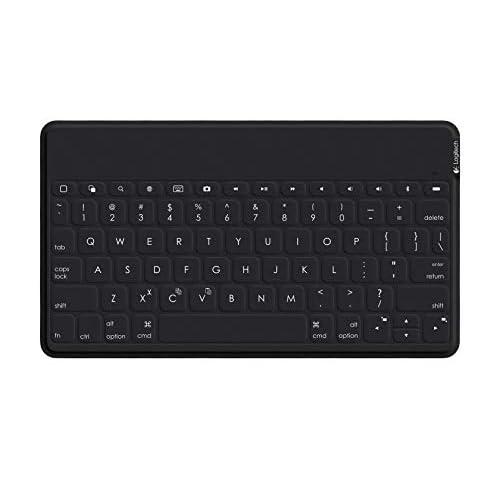 Logitech Keys-To-Go, Tastiera Portatile per iPad/iPhone/Apple TV/Android 4.1/Windows 7, Modello UK QWERTY, Nero