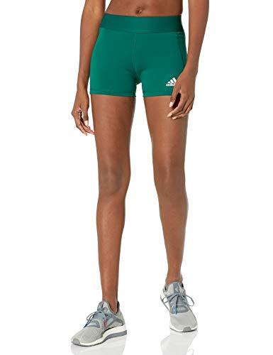 adidas Alphaskin Volleyball-Shorts für Damen, Damen, Strumpfhose, Alphaskin Volleyball 4-Inch Short Tights, Team Dark Green/White, X-Large