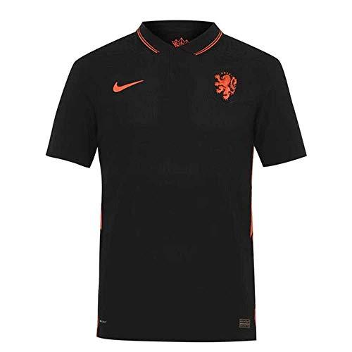 NIKE Knvb M Vapor Mtch JSY SS AW Camiseta, Negro/Naranja, Extra-Small para Hombre