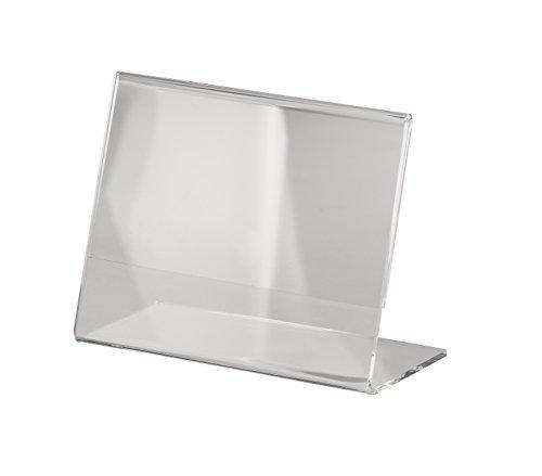 SIGEL TA217 Tischaufsteller schräg, für A7 quer, glasklar Acryl - weitere Größen