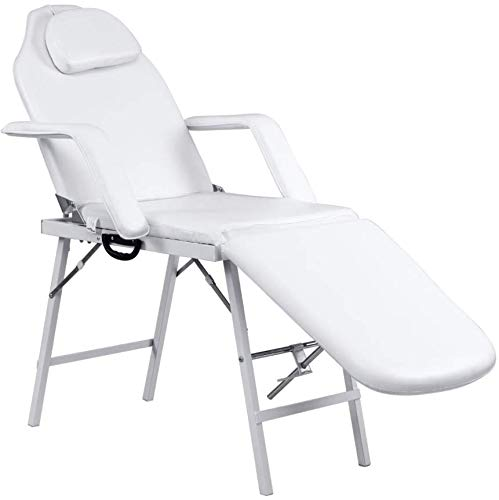 """Best Massage Table For Women Portable Spa Tattoo Salon Facial Folding Bed Home Professional 73"""" White"""