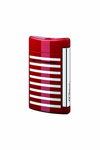 S.T. Dupont S.T. Dupont Minijet Feuerzeug,Motiv: Schwarzer Totenkopf Rot/Weiß (gestreift) Rot/Weiß (gestreift)