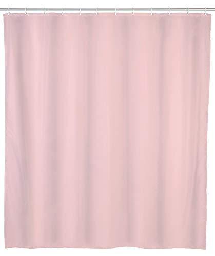 Allstar Duschvorhang Zen Rosa - wasserabweisend, pflegeleicht, Polyethylen-Vinylacetat, 120 x 200 cm, Rosa