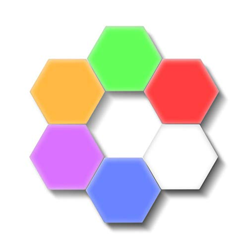 W.KING Farbe Quantum Touch-Sensor-LED Beehive Lampe, kreative Hexagon Splicing Wandleuchte, Mini Interior Novel Ausgangsdekoration-Wand-Lampen-Farben-Nachtlicht,1 pcs red lamp