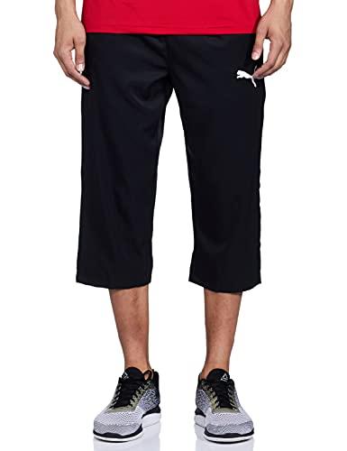 Puma Herren Active Woven 3/4 Pants Jogginghose, Black, XXL