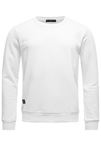 Red Bridge Herren Crewneck Sweatshirt Pullover Premium Basic,Weiß-ii,L