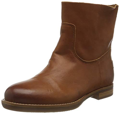 Shabbies Amsterdam Damen SHS0468 Ankle Boot 2 cm Nappa Leather, Cognac, 39 EU