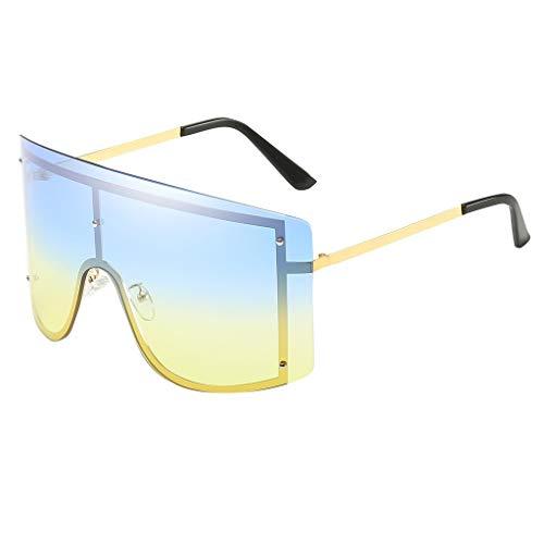 Damen Herren Sonnenbrille Classic UV-Schutz Spiegel Retro Vintage Polarisiert Outdoor Brille Metall Rahme Verspiegelt Gläser PPangUDing Fahrer Design Classic Original (Eine Größe, Mehrfarbig)