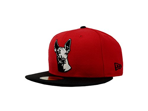 New Era 59Fifty Hat Tijuana Xolos Caliente Soccer Club Liga MX Red/Black Cap (7 5/8)