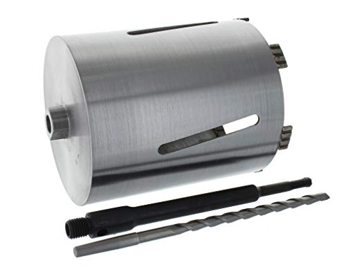 Diamant Bohrkrone SDS-plus lang (200mm) Aufnahme und Zentrierbohrer Nutzlänge 180 mm Ø 152 mm Betonbohrkrone Kernbohrer