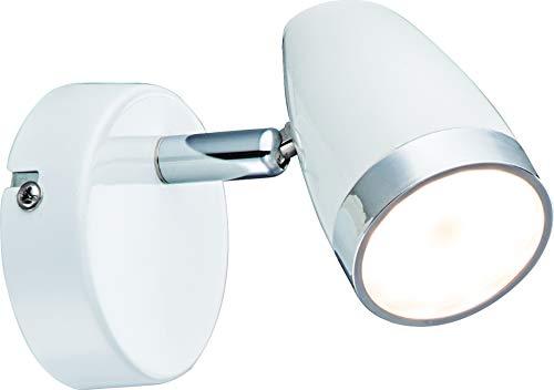 DM Leuchten Wandlampe Deckenlampe LED Lampe schwenkbar 1 flammig inkl. Leuchtmittel 1x 4 Watt, warmweiß, LED Wandleuchte Deckenleuchte LED Strahler LED Spot, Weiß