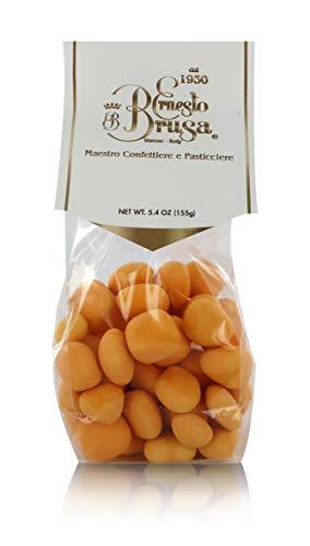 Ernesto Brusa Peladillas de Naranja escarchada Cubiertas de Chocolate Negro - 155 Gramos