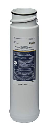 Whirlpool WHEERM Reverse Osmosis Replacement Membrane|Fits WHAPSRO, WHAROS5 & WHER25 Filtration Systems|Easy To Replace UltraEase Filter Cartridges |Extra Long Life | 1 Filter