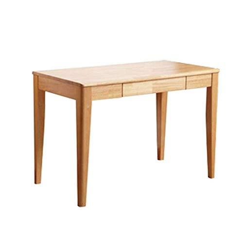 SYZMA Escritorio, escritorio con cajones de 120 x 56 x 75 cm, escritorio de madera maciza, oficina en casa y mesa de trabajo, diseño escandinavo, estructura estable, fácil de montar