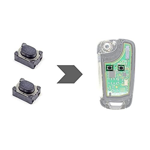 AMAKEY | Microinterruptor SMD micropulsador para llave de coche Opel | 2 unidades