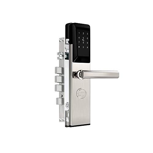 Smart Door Lock, Cerradura Puerta Inteligente, Bluetooth WiFi, Tarjeta/Contraseña/Llave, Hogar/Oficina/Hotel