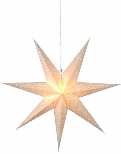 "Best Season Papierstern""Sensy Star 70"" circa 70 x 70 cm, inklusive Kabel, Vierfarb-Karton, crème 231-20"