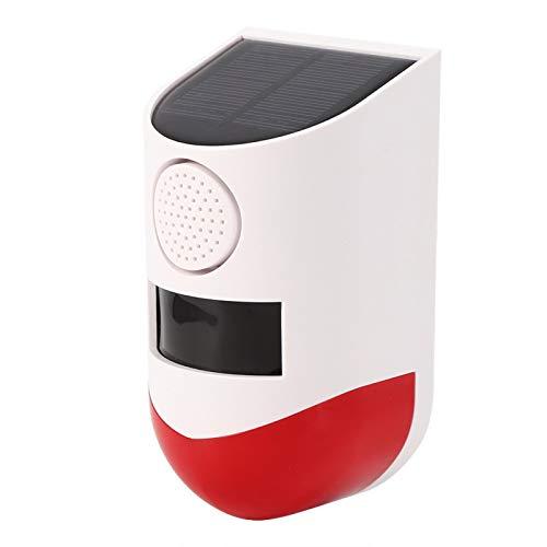 5 Modos de Alarma de Advertencia Sensor de Movimiento infrarrojo Solar Detección fácil de Instalar 9-12 Metros