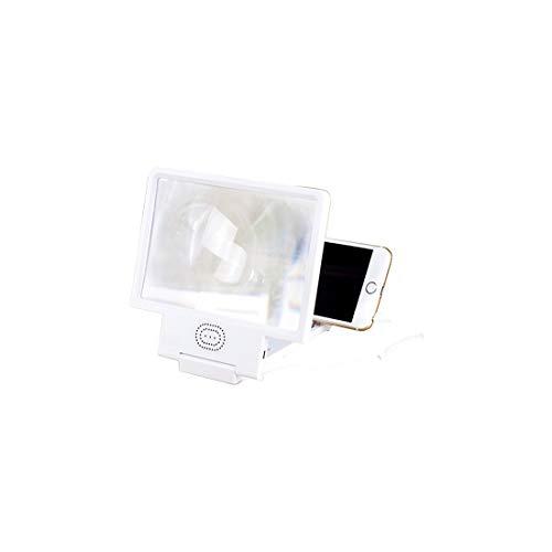 Lupa de Pantalla del teléfono 3D HD con bocina Pantalla de teléfono Lupa Soporte Plegable Película y Video Amplificación estereoscópica para Todos los teléfonos Inteligentes