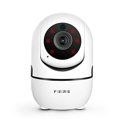 FUERS T09T Cámara IP 1080P HD, Cámara de Vigilancia WiFi Interior para Hogar, Casa Seguridad Camara con Visión Nocturna, Audio de 2 Vías, Inalámbrico Video Camera para Mascota Oficina Bebé Tienda