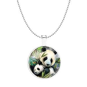 CULOVITY Lovely Panda Pendant Necklaces for Panda Lovers