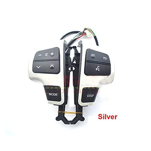 YINLANSTOR YLAN Store Botones de Volante multifunción Fit para Toyota Land Cruiser LC200 2007-2015 (Color : Silver)