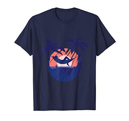 Coucher de soleil sur l'île de détente du hamac T-Shirt