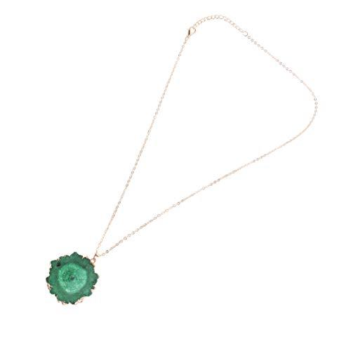 Holibanna Collar Colgante de Cristal Forma Irregular Piedra Perdón Compasión Liberación Collar de Piedras Preciosas para Mujeres