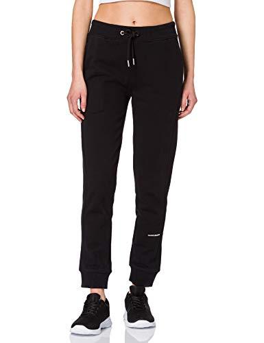 Calvin Klein Jeans Damen Micro Branding Jogging Pant Trainingsanzug, Ck Schwarz, L