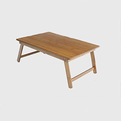 ZXL Opvouwbaar laptopbed met bureau Opvouwbare laptop slaapzaal tafel Eenvoudige leertafel, bruin vierkante tafel (afmeting: 80 cm x 40 cm)