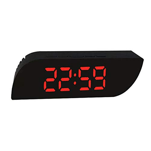 NXSP Creative Mirror Alarm Clock Makeup Spiegel LED Digitale Clock, Tafel Desk Display Home Decor AAA batterij USB-oplader
