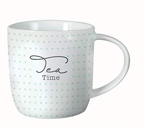 Grafik-Werkstatt 61423 Kaffeetasse mit Spruch 300 ml | Porzellan Tasse lustig | Tea Time