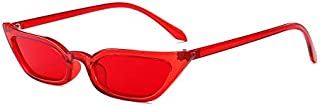 Sunglasses Fashion Accessories Cat Narrow Sunglasses Cool Dance Parties UV (Color : Red)