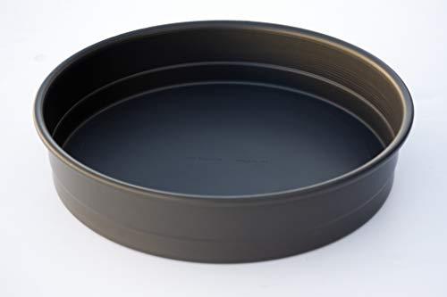 LloydPans 10x2.25 inch, Deep Dish Pizza Pan. Pre-Seasoned PSTK, Self-Stacking Pan.