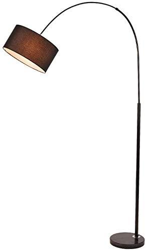 Henseek Jahreszeitentisch Weiße Feder-Stehlampe, E27 Einfach Wohnzimmer Study Schlafzimmer Nachtaugenschutz Stehlampe-Jute Schnur-Lichter (Color : Black)