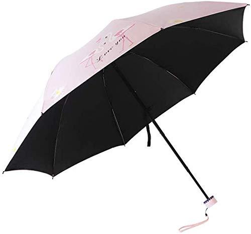 Suministros de lluvia Viajes umberllas paraguas del flamenco Sunumbrella Mini lluvia de Sun portátil ligero paraguas for la Mujer (Color: Gris, Tamaño: Libre) Adecuado para salir en días de lluvia
