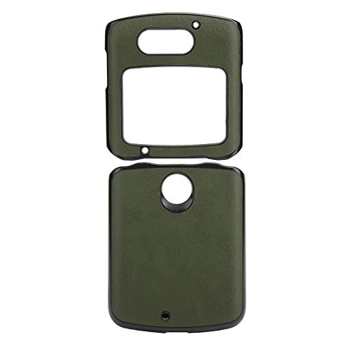 Handytasche, Handy-Schutzhülle Stoßfeste Handy-Lederhülle für Motorola Razr 5G(Grün)