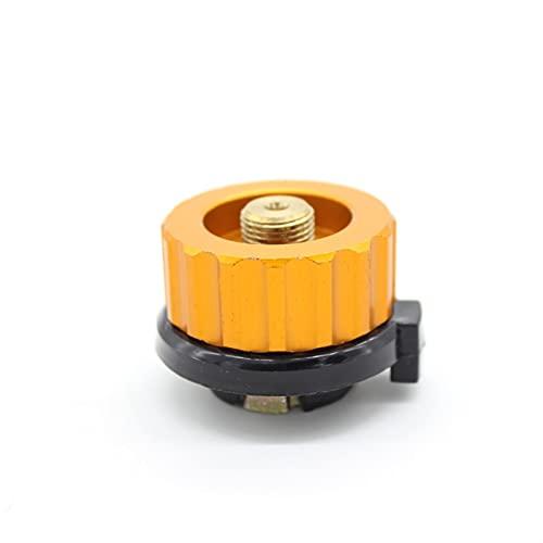 Generador de viento Camping al aire libre Senderismo Adaptador de estufa Tipo de división Convertidor de horno Conector Auto-Off Cartucho de gas Cilindro Adaptador de cilindro Para marina, RV, hogar,