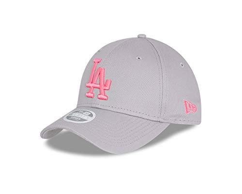 New Era Los Angeles Dodgers MLB Cap 9forty Basecap Verstellbar Damen Baseball League Essential Grau Pink - One-Size