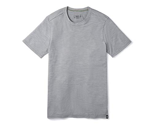 Smartwool Men's Merino Sport 150 Tee T Shirt Homme Light Gray Heather FR: L (Taille Fabricant: L)
