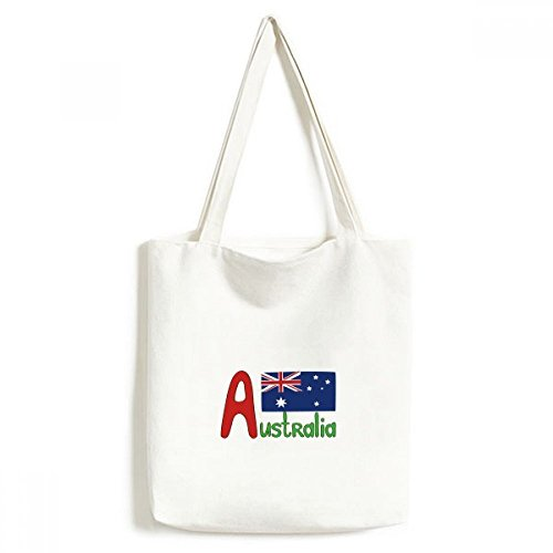 DIYthinker Australien Nationalflagge Rot-Blau-Muster Umwelt Waschbar Einkaufs-Tasche Fertigkeit-Geschenk 33 * 40cm Mehrfarbig